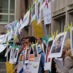 Jugendliche äußern sich in Wort und Bild gegen die Kürzungen