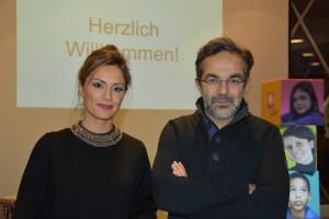 Prominente Unterstützer des Caritas-Therapiezentrums Nazan Eckes und Navid Kermani