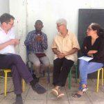 rege Diskussion mit KollegInnen der Flüchtlingsarbeit in Rabat